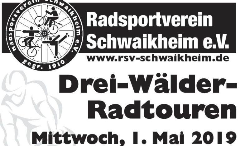 RTF-Aufruf – Drei-Wälder Radtouren am 1. Mai in Schwaikheim