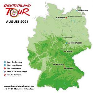 Deutschland-Tour: Sangerhausen ist 2021 Startort der 2. Etappe