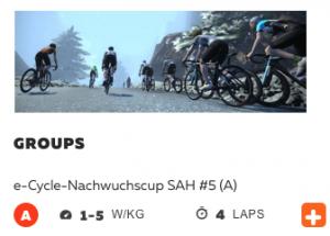 "e-Cycling: Offenes Rennen rundet ""Wahoo""-Nachwuchscup ab"