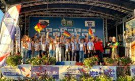 Julius Klose von der MTB Sport Saar-Obermosel im Team Allemagne erfolgreich am Start bei der Trophée de France des Jeunes Vététistes (TFJV) in Alpe d'Huez
